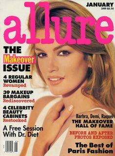 Cindy Crawford January 1995 Allure Magazine cover | allure.com