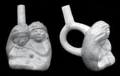 Mujer masturbando a un personaje esqueletizado. Museo Nacional de Antropología, Arqueología e Historia, Lima. Moche o Mochica   Sexualidades prehispánicas