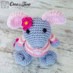 Emily the Mouse Amigurumi Crochet Pattern by One and Two Company