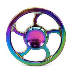 Focus Toy Rainbow brass spinner Hand Spinner ADHD support  EDC Toy