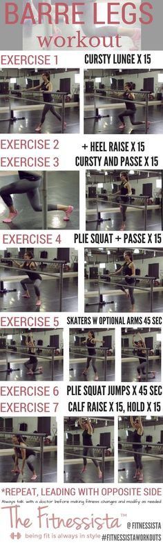 If you love doing barre workouts at home, this barre legs workout is a great one to get your legs shaking and build lean legs. The best part? Zero equipment! Check out the full post for form cues plus a video how-to. Save now for an awesome workout later. fitnessista.com #HowtoWorkout