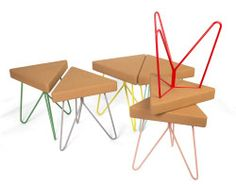 Três Stool is a minimalist design created by Portugal-based design firm Galula Studio. Três Stool has three sides, three legs, but many forms that adapts to any person and posture. It is a modular stool with cork material while the seat is supported by a touch of color and fun. The seats can be combined together to form a hexagonal bench of sorts. (3)
