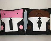 2 Decorative pillow cushions covert  cinema adict pulp fiction samuel and john 40 x 40 cm cm 16' x 16' inches