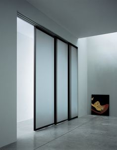 Modernus | Light 00 | Sliding Pocket Door | Glass Panel | Black Aluminum Frame