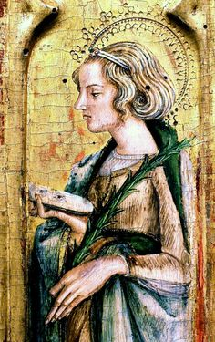 Carlo Crivelli. 1430-1468 in the Marches and Ferrara. St. Lucia. Avignon.detail Musée du Petit Palai