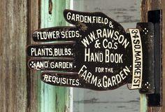 Garden Shop Supply Sign