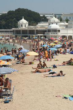 La Caleta . Playa en el Centro de Cádiz . Spain