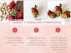Style Cookbook by Simone: {recept} Jahody v čokoládě a pistáciích