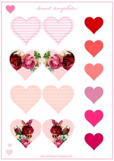 FREE printable heart templates | #ValentinesDay