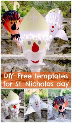 DIY: Free templates for St. Christmas Crafts, Christmas Ornaments, Projects To Try, Preschool, Templates, Activities, Holiday Decor, Blog, Awesome