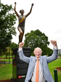 KEVIN Bartlett has been immortalised with a bronze statue in the avenue of legends outside the MCG. 1956 Olympics, Shane Warne, Gate 2, Football Match, Olympic Games, Cricket, Statues, Melbourne, Entrance