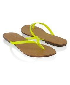 Patent Neon Flip Flops - StyleSays