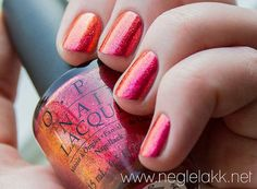 This is a mixture of my favorite colors, covered in sparkles - OPI is one of the best companies.