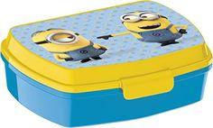 Minions Brotdose für Kinder in Kindergarten und Schule und als Geschenk und Wunschidee für Kindergeburtstag