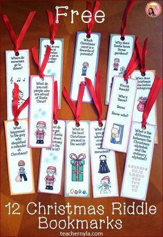 free christmas riddle bookmarks christmas riddles christmas writing christmas books christmas crafts