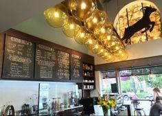 The interior at Kaldi's Coffee on Jefferson Street.