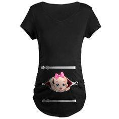 Cute Baby Peeking Maternity T-Shirt