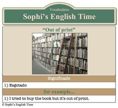 Vocabulário: Out of print