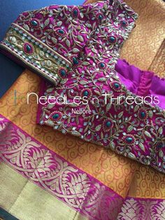Wedding Saree Blouse Designs, Pattu Saree Blouse Designs, Blouse Designs Silk, Blouse Desings, Diana, Designs For Dresses, Boutique Design, Work Blouse, Indian Designer Wear