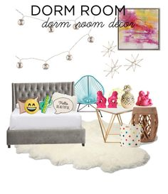 """Dorm Room decor"" by valerie-sofia-delgado ❤ liked on Polyvore featuring interior, interiors, interior design, home, home decor, interior decorating, Uttermost, UGG Australia, Innit and Bungalow 5"