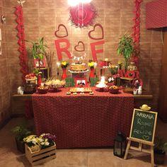 Mesa chá bar festa junina
