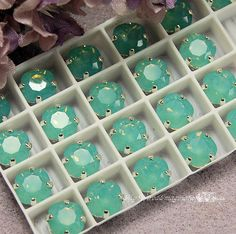 Pacific Opal Sew On Swarovski Crystal 8mm by MyWiredImagination, $5.00