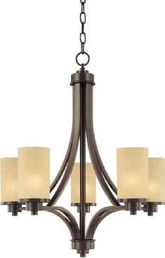 Amal Contemporary 5-Light Shaded Chandelier. See all popular light fixtures and get home lighting ideas for indoor and outdoor lights at Mason Luxury Homes. Find lighting for all budgets for your bedroom, bathroom, foyer, dining and living room. #lighting #lights #chandelier