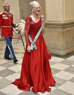 Queen Margarethe - 75th birthday -  Danish royal family at the Gala Dinner 04/15/2015