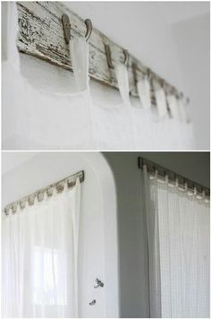 curtain rods 9 Ways to Hang Curtains You Haven't Thought of Before . - curtain rods 9 Ways to Hang Curtains You Haven't Thought of Before – Curtains Up Blo - Unique Curtains, Hanging Curtains, Door Curtains, Bay Window Curtains Living Room, Basement Window Curtains, Curtain Ideas For Living Room, Window Cornice Diy, Shear Curtains, Box Valance
