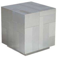 Paul Evans Designed Chrome Cube or End Table, 1975