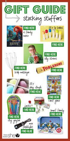 Gift Guide - Stocking Stuffers! #giftguide #stockinggifts #howdoesshe howdoesshe.com