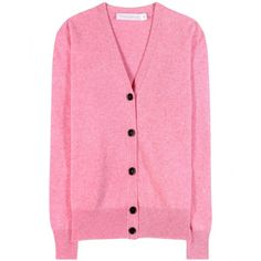 Victoria Beckham Wool Cardigan (899,970 KRW) ❤ liked on Polyvore featuring tops, cardigans, jackets, neuletakit, pink, pink top, pink cardigan, wool cardigan, victoria beckham tops and victoria beckham