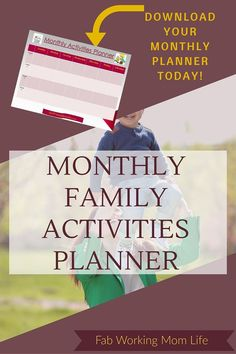 Check out these 140 Simple and Amazing Learning Activities for Toddlers and Preschoolers and Download Your Monthly Family Activities Planner today!