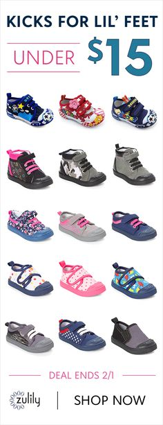 Sign up to shop toddler shoes under $15. Here with more great brands, Skidders creates hassle-free, non-skid footwear. Their products provide freedom of movement with enhanced traction and protection to promote healthy development for growing feet. Deal ends 2/1.