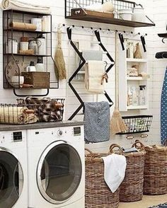 14 organized laundry room decorating ideas for various spaces that can applied to the available small places or in a better bigger room.