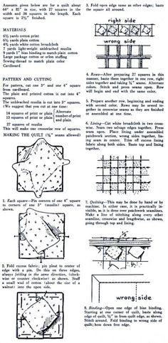 BLOG.BRAMCOSTPUBLICATIONS.COM: Ring in the Vintage New Year (Day 13): Vintage Puff Quilt Pattern on imgfave
