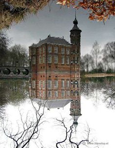 We got Casey from a farm outside Breda. Reflection of a castle near Breda, The Netherlands