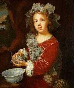 Мэри Бил  Молодой Вакх  c.1679  Холст , масло, 65,4 х 55,7 см  St Эдмундсбери Музеи
