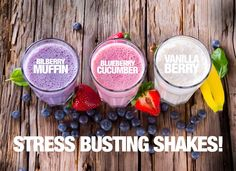 Bilberry Muffin Shake:   • Two Oranges - Fresh Squeezed • 1 scoop Vanilla Shakeology  • 2/3 cup fresh or frozen blueberries • 1/2 cup rolled oats (ground) • 2 tablespoons flax oil or ground flax seed • 1/2 teaspoon ground cinnamon • 1 cup ice cubes  Shakeology: http://www.shakeology.com/where-to-buy?TRACKING=SOCIAL_SHK_PI