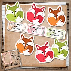 RebeccaB Designs: FREE Printable - What Does the Fox Say