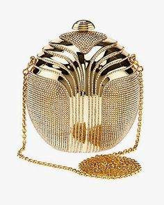 """Some of you have to get in on this: Judith Leiber """"Partbead"""" Deco Oval Crystal Clutch handbags purses designer"""
