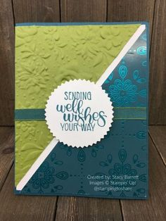 Dandelion Wishes for Care and Concern Swap by Stacy Barrett for Stamping to Share Kleenex Box, Dandelion Wish, Pocket Cards, Get Well Cards, Sympathy Cards, Embossing Folder, Cool Cards, Botanical Prints, Stamping