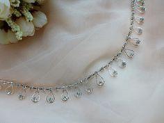 Tear Drops Rhinestones Chain Trim for Wedding by lacelindsay