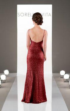 8884 Floor Length Sequin Bridesmaid Dress by Sorella Vita available in Cincinnati, Ohio at www.carriekaribobridal.com #bridesmaidsdress