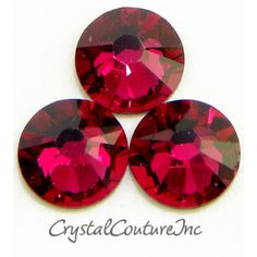 Crystal Couture | Swarovski ELEMENTS 2058 Rhinestones Ruby 30ss 1 Dozen