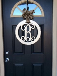 Circle Monogram Door Hanger This circle monogram door hanger is perfect addition to your home. & 24\