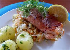 Salmon in ham ...