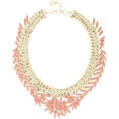 Bcbg Maxazria Woven Coral Stone Necklace (2.370 CZK) ❤ liked on Polyvore featuring jewelry, necklaces, coral, woven necklace, thick necklace, adjustable necklace, floral necklace and thick chain necklace