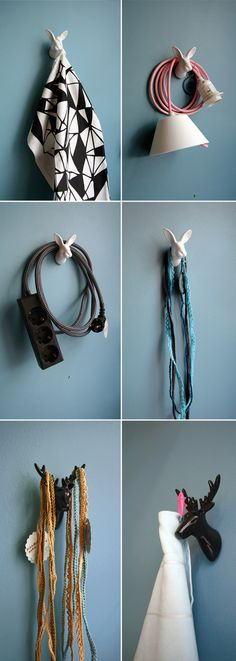 animal hooks by Jorine Oosterhoff