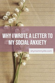 Why I wrote a letter to my social anxiety Anxiety Tips, Anxiety Help, Social Anxiety, How To Control Anxiety, Do I Have Anxiety, Controlling Anxiety, Explaining Anxiety